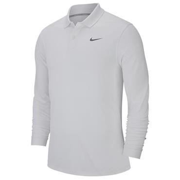 Nike Gents Victory Long Sleeve Polo Shirt White