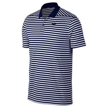 Nike Gents Dry Victory Stripe Polo Shirt Navy