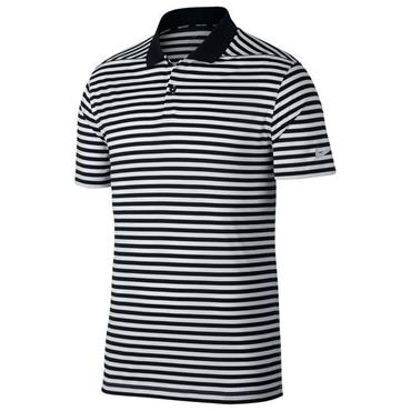 Nike Dri-Fit Striped Victory Polo Shirt Black 011