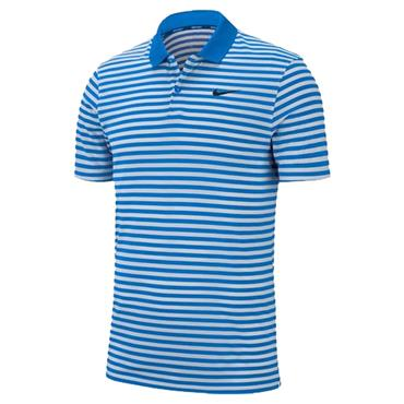 Nike Dri-Fit Striped Victory Polo Shirt Photo Blue
