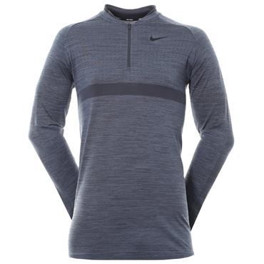 Nike Gents Dri-Fit 1/2 Zip Top Carbon