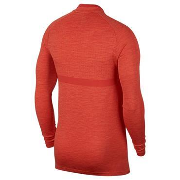 Nike Gents Dri-Fit 1/2 Zip Top Coral