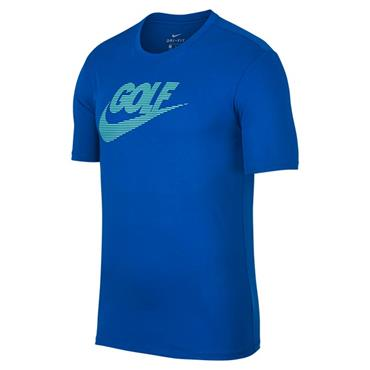 Nike Gents Dry Lockup Tee Shirt Blue