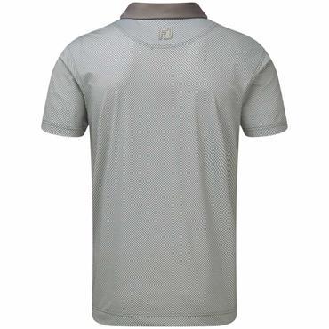 FootJoy Gents Lisle Basketweave Polo Shirt Grey - Granite