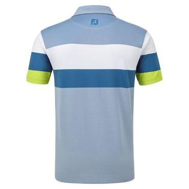 Footjoy Gents Enginnered Birdseye Pique Polo Shirt Blue - White - Citroen
