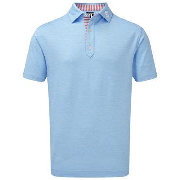 FootJoy Gents Heather Pique Polo Shirt Carribean Blue