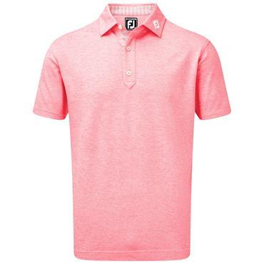 FootJoy Gents Heather Pique Polo Shirt Watermelon