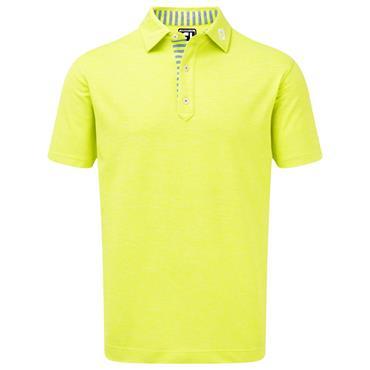 FootJoy Gents Heather Pique Polo Shirt Citroen