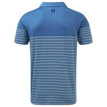 FootJoy Gents Stretch Lisle Multi Pinstripe Polo Shirt Blue