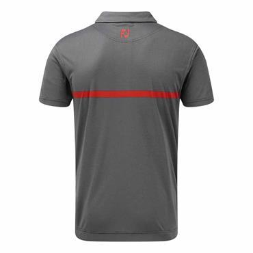 FootJoy Gents Engineered Polo Shirt Navy - Scarlet