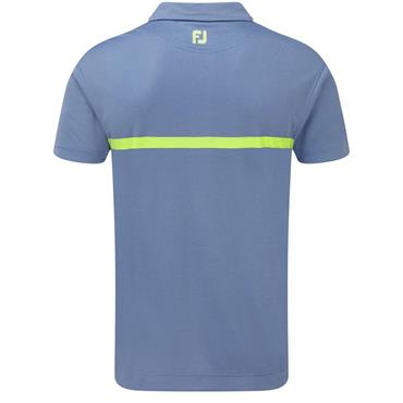 FootJoy Gents Engineered Nailhead Jacquard Polo Shirt Marlin - Citrus
