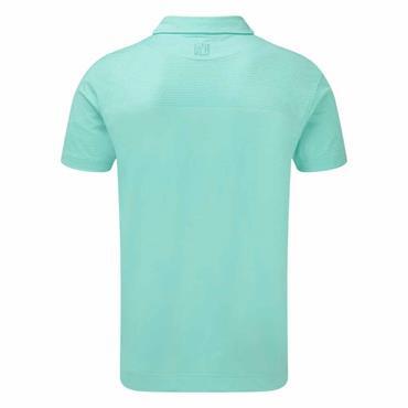 FootJoy Gents Eng Pique Polo Shirt Aqua