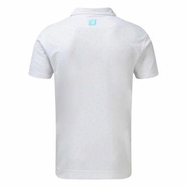 FootJoy Gents Smooth Pique Polo Shirt White - Aqua