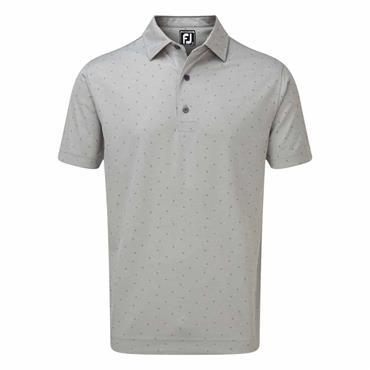 FootJoy Gents Smooth Pique With FJ Print Polo Shirt Grey