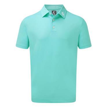 FootJoy Gents Stretch Pique Solid Polo Shirt Aqua