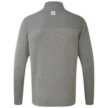 FootJoy Gents Flat Back Rib and Woven Chillout Top Granite
