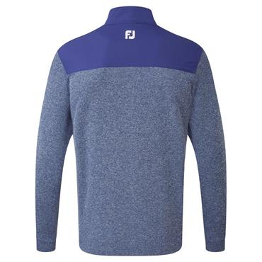 FootJoy Gents Flat Back Rib and Woven Chill-out Top Twilight