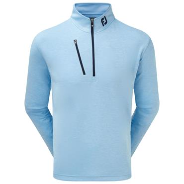 FootJoy Gents Heather Pinstripe Chill-Out Pullover Blue