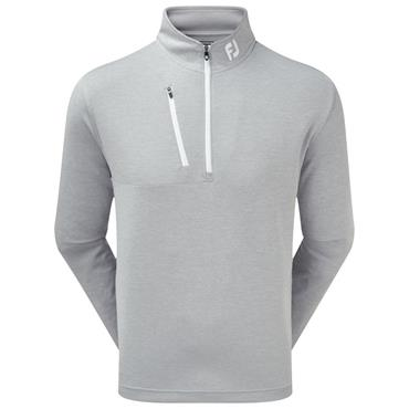 FootJoy Gents Heather Pinstripe Chill-Out Pullover Grey