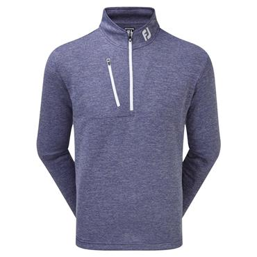 FootJoy Gents Heather Pinstripe Chill-Out Pullover Twilight