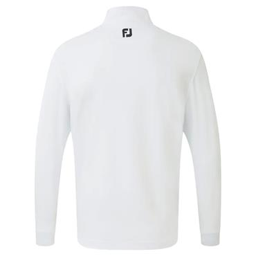 FootJoy Gents Jersey Chest Stripe Chillout Pullover White - Aqua - Black