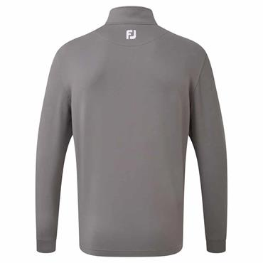 FootJoy Gents Jersey Chest Stripe Chillout Pullover Granite - Heather Grey - White
