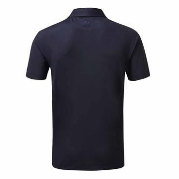 FootJoy Gents Super Stretch Pique with Neat Print Trim Polo Shirt Navy