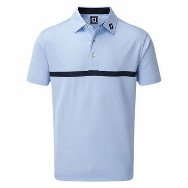 FootJoy Gents Engineered Nailhead Jacquard Polo Shirt White - Navy