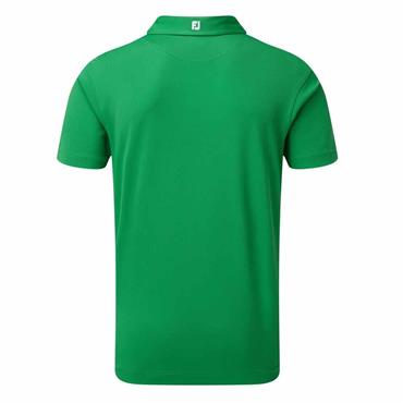 FootJoy Gents Stretch Pique Solid Polo Shirt Green