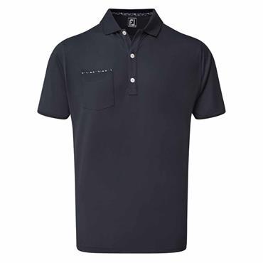 FootJoy Gents Super Strech Pique Jacquard Polo Shirt Navy