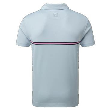 FootJoy Gents Jacquard Colour Block Top Blue Fog