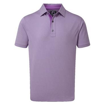 FootJoy Gents Jacquard Pique Shirt Purple - White
