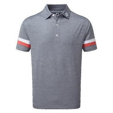 FootJoy Gents Pique Space Dye Shirt Slate - Coral