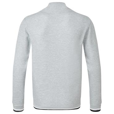 FootJoy Gents Jersey Fleece Back Buttoned Collar Mid-Layer Heather Grey