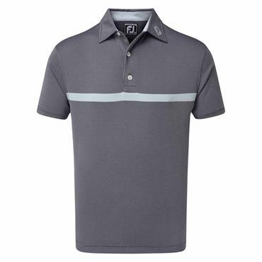 FootJoy Gents Engineered Nailhead Jacquard Polo Shirt Navy - Blue