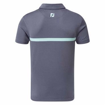 FootJoy Gents Engineered Nailhead Jacquard Polo Shirt Deep Blue - Mint