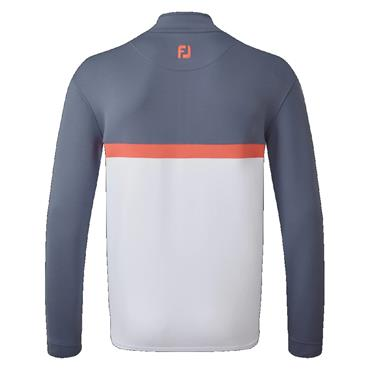 FootJoy Gents Colour Block Chill Out Top Slate - Coral