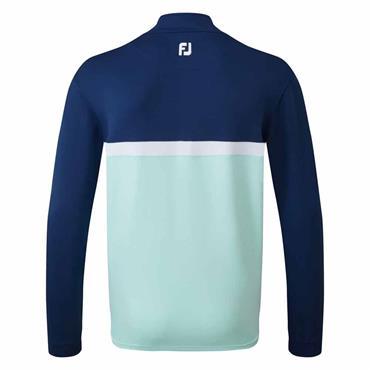 FootJoy Gents Colour Block Chill-out Top Blue - Mint