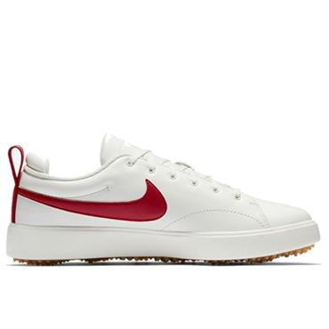 Nike Gents Course Classic Golf Shoes White - Red