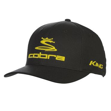 Cobra Pro Tour Stretch Fit Baseball Cap Black - Yellow