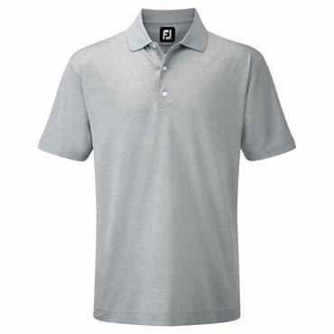 FootJoy Gents Stretch Pique Solid Knit Collar Polo Shirt Heather Grey