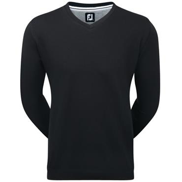FootJoy Gents Spun Poly V-Neck Sweater Black