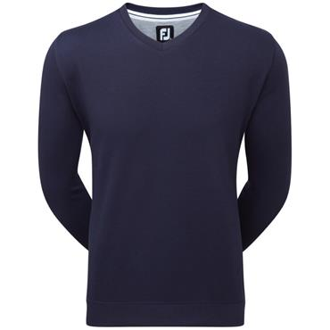 FootJoy Gents Spun Poly V-Neck Sweater Navy