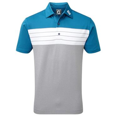 FootJoy Gents Pique Colorblock Polo Shirt Heather Grey