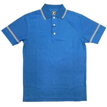 FootJoy Gents Smooth Pique With Collar and Sleeve Stripes Polo Shirt Indigo