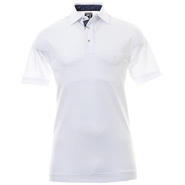 FootJoy Gents Paisley Trim Polo Shirt White