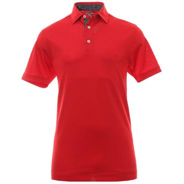 FootJoy Gents Stretch Pique Paisley Polo Shirt Red
