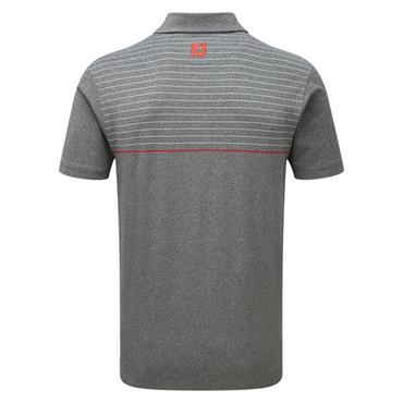 0343b42f7 ... FootJoy Gents Lisle Engineered Pinstripe Polo Shirt Charcoal