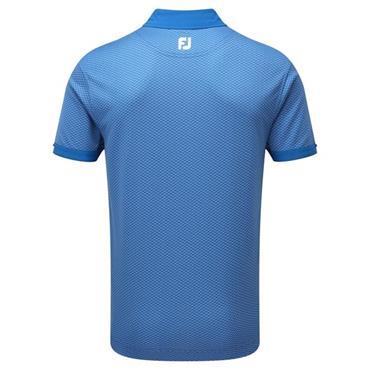 FootJoy Gents Dot Geo Jacquard Polo Shirt Cobalt - White