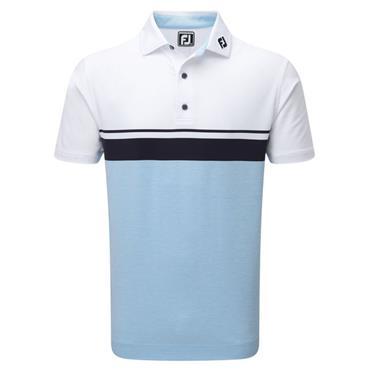 FootJoy Gents Lisle Block Polo Shirt White